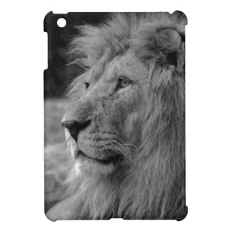 Black & White Lion - Wild Animal Cover For The iPad Mini