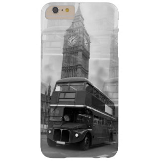 Black & White London Bus & Big Ben Barely There iPhone 6 Plus Case