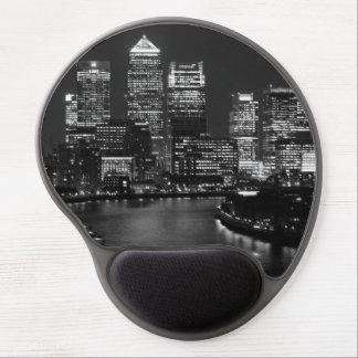 Black White London City Night UK Travel Gel Mouse Pad