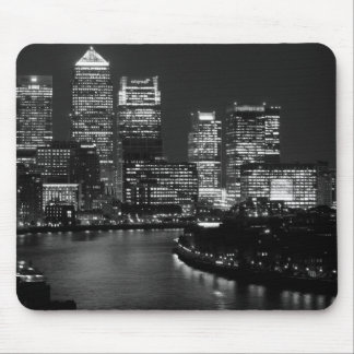 Black White London City Night UK Travel Mouse Pad