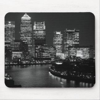 Black White London City Night UK Travel Mouse Pad