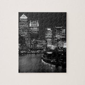 Black White London City Night UK Travel Puzzles