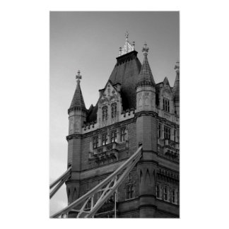 Black White London Tower Bridge Close-Up Poster