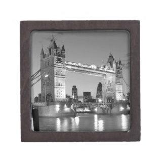 Black White London Tower Bridge Keepsake Box