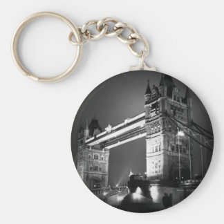 Black & White London Tower Bridge Keychain
