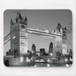 Black White London Tower Bridge Mouse Pad