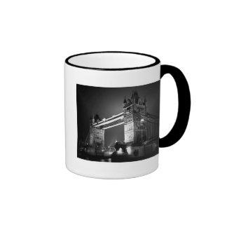 Black White London Tower Bridge Mugs