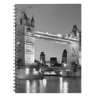 Black White London Tower Bridge Notebook