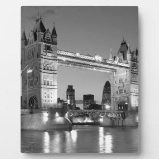 Black White London Tower Bridge Plaque