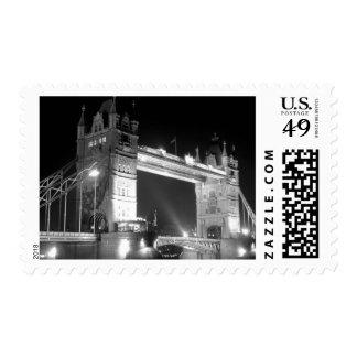 Black White London Tower Bridge Postage