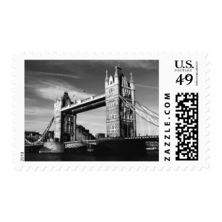 Black & White London Tower Bridge Postage