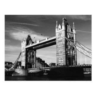Black & White London Tower Bridge Postcard