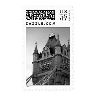 Black White London Tower Bridge Stamp