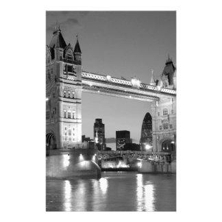Black White London Tower Bridge Stationery