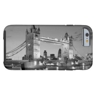 Black White London Tower Bridge Tough iPhone 6 Case