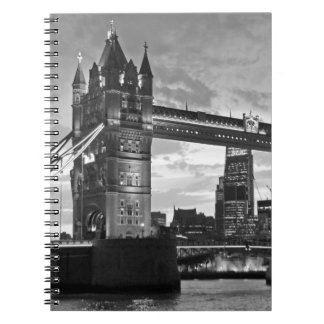 Black White London Tower Bridge UK Travel Notebook
