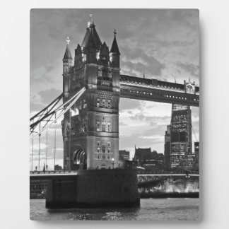 Black White London Tower Bridge UK Travel Plaque