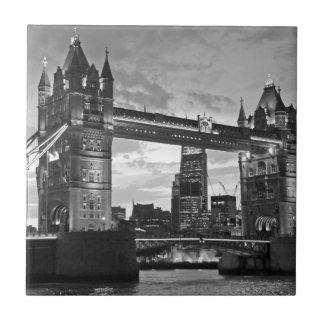 Black White London Tower Bridge UK Travel Tile