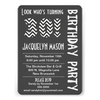 Black/White Look Who's Turning 30 Birthday Invite