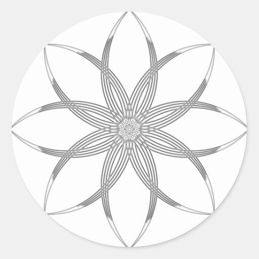 Black & White Lotus Stickers