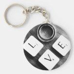 Black & White Love Keychain