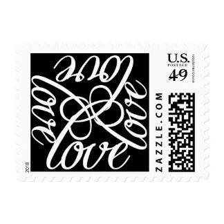 Black White Love Postage
