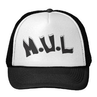 Black & White M.U.L Logo Cap Trucker Hat