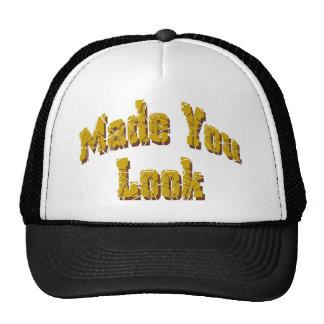BLack & White Made You Look logo cap Trucker Hat
