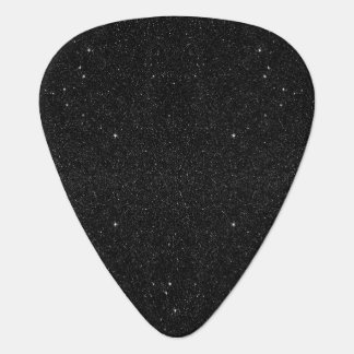 Black & White Majestic Starry Nebula Night Guitar Pick