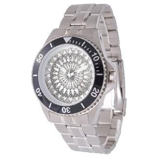 Black&white mandala watch