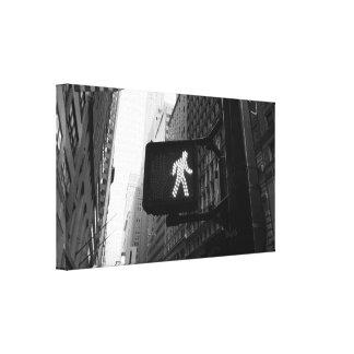 Black White Manhattan New York Walk Sign
