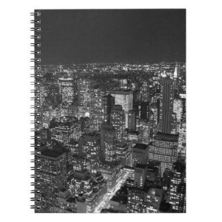 Black & White Manhattan Spiral Notebook