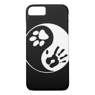 Black & White Man's Best Friend Yin Yang Symbol iPhone 7 Case