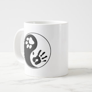 Black & White Man's Best Friend Yin Yang Symbol Large Coffee Mug