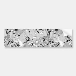 Black White Marble Abstract Bumper Sticker