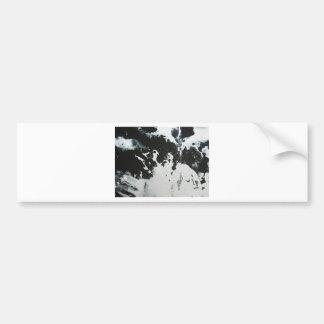 Black & White Marble Abstract Illustration Design Bumper Sticker