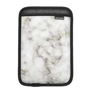 black white marble Ebony Ivory stone finish iPad Mini Sleeve
