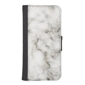 black white marble Ebony Ivory stone finish Wallet Phone Case For iPhone SE/5/5s