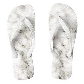 black white marble stone finish flip flops