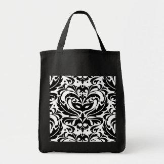 Black & White Masquerade Mask Treat Halloween Bag