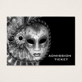 Black White Masquerade Party Admission Tickets