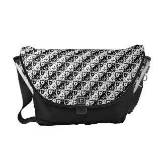 Black & White Messenger Bags