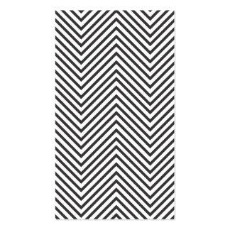 BLACK & WHITE MOD ZIGZAG PATTERN BUSINESS CARD TEMPLATE