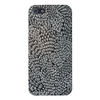 Black& White Modern Abstract Oil Painting Art iPhone 5 Cases