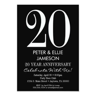 Black & White Modern Anniversary Invitations