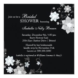 Black & White Modern Bling Bridal Shower Card