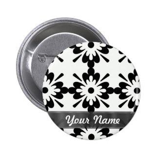 Black & white modern damask pin