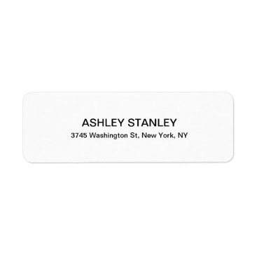 USA Themed Black & White Modern Look Professional Legible Label