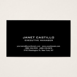 Black White Modern Professional Personal Simple Business Card