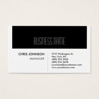 Black & White Modern Simple Business Card